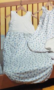 Prolana-Schlafsack-Babyschlafsack-BOBO-110-cm-Veloursfutter-Baumwolle-kbA