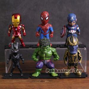 Marvel-Avengers-Pvc-Action-Figure-s-set-Iron-Man-Spider-man-Captain-America-Hulk