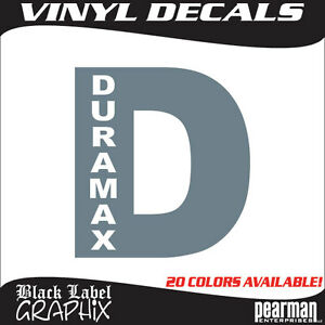 Duramax Diesel Chevrolet Chevy HD Truck Window Laptop Vinyl Decal - Chevy duramax diesel decals