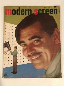 MODERN SCREEN MAGAZINE - March, 1947 - CLARK GABLE
