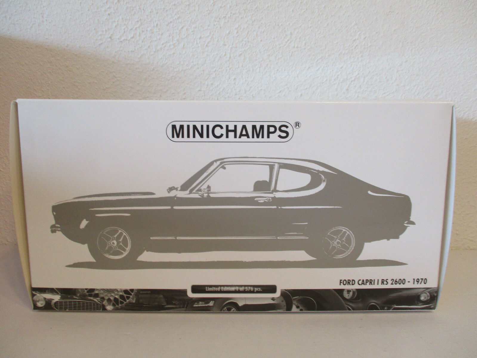 (gol) 1,18 minichamps ford capri rs 2600 1970 - neuf emballage scell é