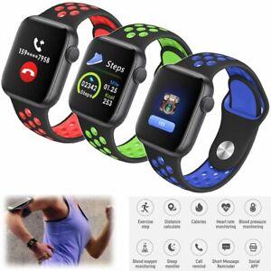 Sport Bluetooth Smartwatch Pulsuhr Armbanduhr für iOS Android Samsung A9 A8 A7