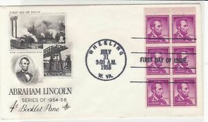 united states 1958 booklet pane stamps cover ref 20031