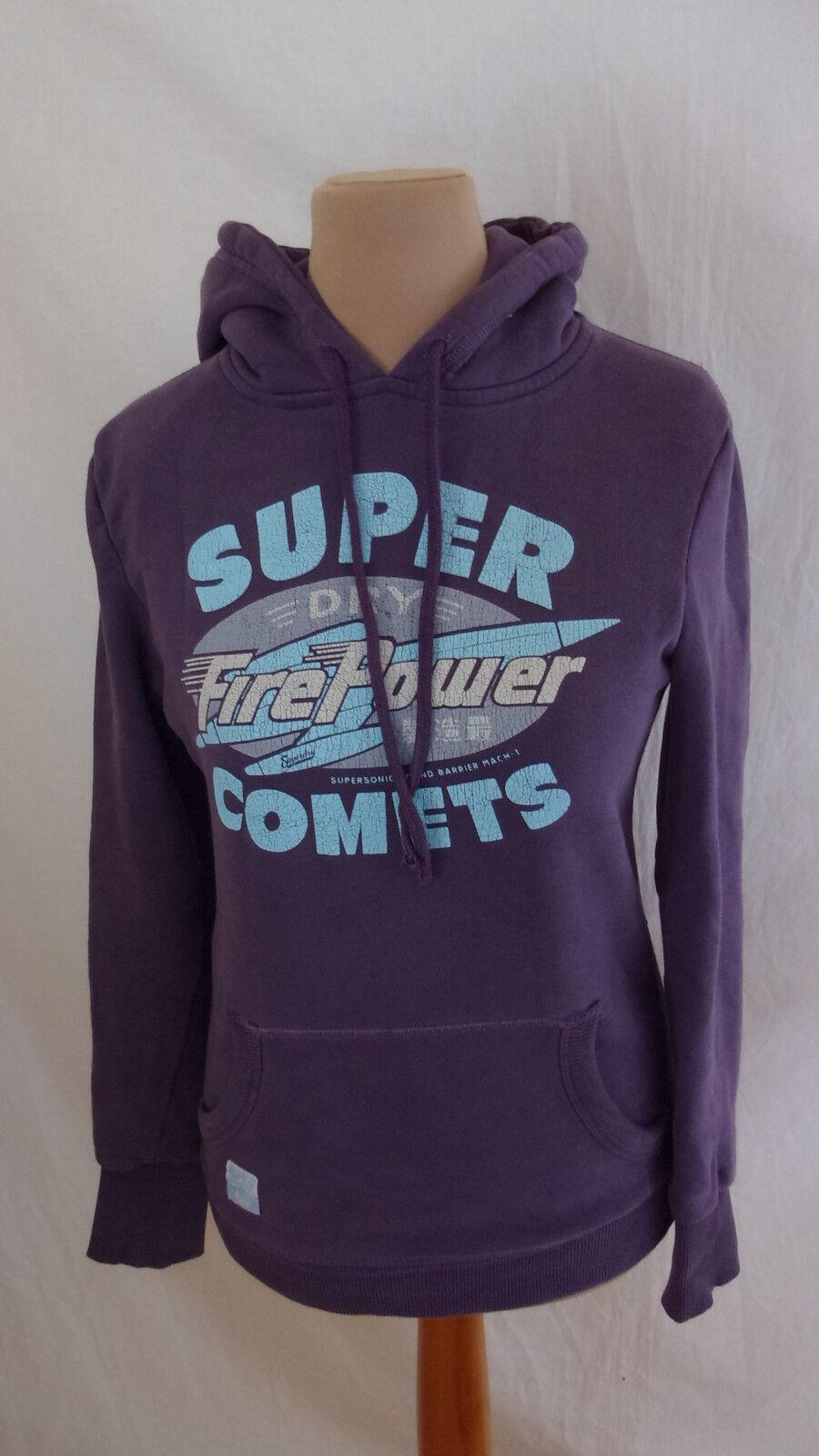 Sweat Superdry purple size S à - 48%