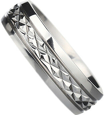 New Boxed Engraved ''I Love You'' 8mm Titanium Wedding Engagement Band Ring