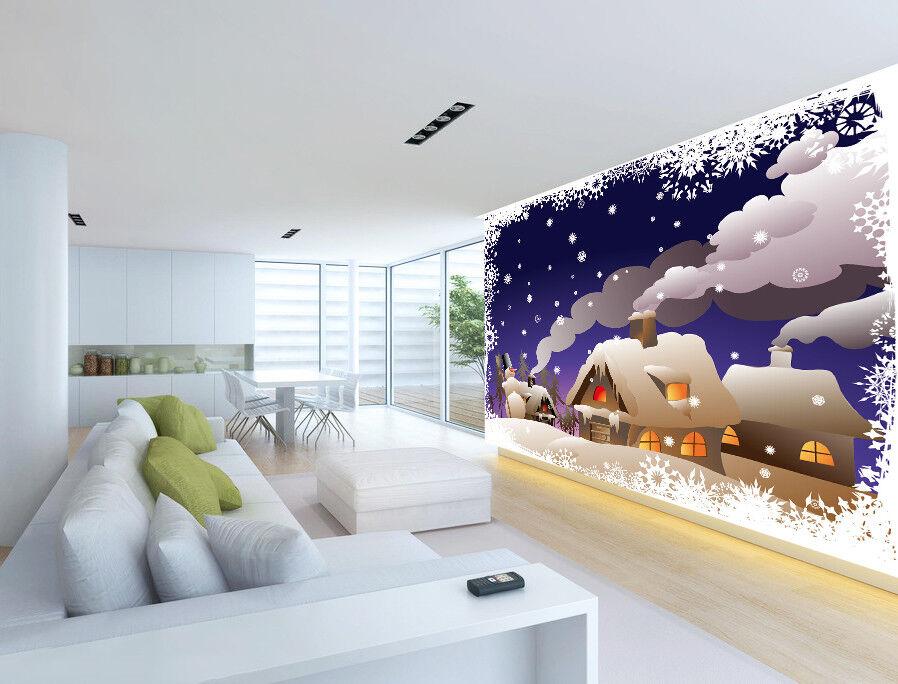 3D Schnee Haus Schornstein 88 88 88 Tapete Wandgemälde Tapete Tapeten Bild Familie DE   Heißer Verkauf    Angemessener Preis     c675a6