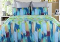 Paxton & Wiggin Parker Aqua Cotton Quilt Doona Cover Set Double Queen King