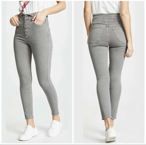 MOTHER The Swooner Gray Snap High Rise Jeans 28
