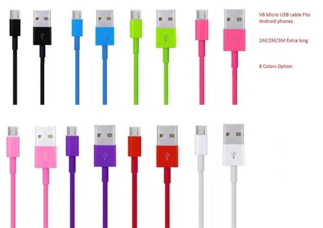 2M 3M Micro USB Sincronización De Datos Cable Carga Para Samsung S6 S7 Borde J3