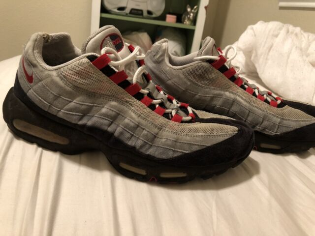 Nike Air Max 95 White Solar Red Grey Shoes Best Price 609048 106