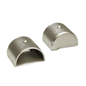 PAIR Boat Rub Rail End Caps2 1//8 x 2 1//2 x 1 1//4 Inch Aluminum