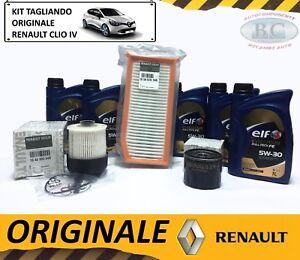 KIT-TAGLIANDO-OLIO-ELF-5W30-3-FILTRI-ORIGINALE-RENAULT-CLIO-IV-1-5-DCI