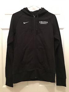 Virginia UVA Cavaliers Football Team Issued Nike Black Hoodie Jacket Medium