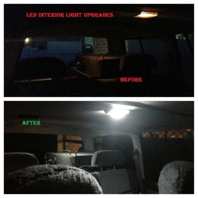 Toyota Landcruiser 80 series 1990-1998 Interior light LED upgrade kit dome map
