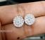 Deal-1-05-CT-Natural-Diamond-Cluster-Halo-Stud-Earrings-14K-White-Gold-9-5-MM thumbnail 4