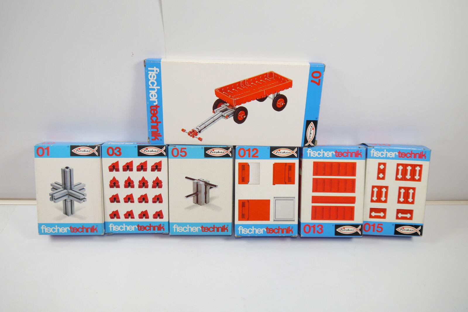 Fischertechnik 7 Various 01 +03+05 +07 +012+013+015 Supplement Box New (Mf12)