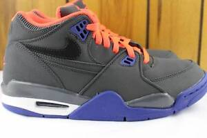 NIKE AIR FLIGHT 89 ANTHRACITE SIZE 5.5 YOUTH SAME AS WOMAN 7.0 NEW RARE