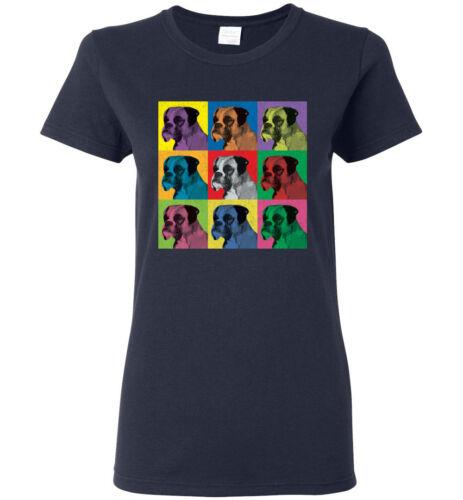 Men/'s Women/'s Youth Tank Long Boxer Dog Pop-Art Vintage-Style T-Shirt Tee