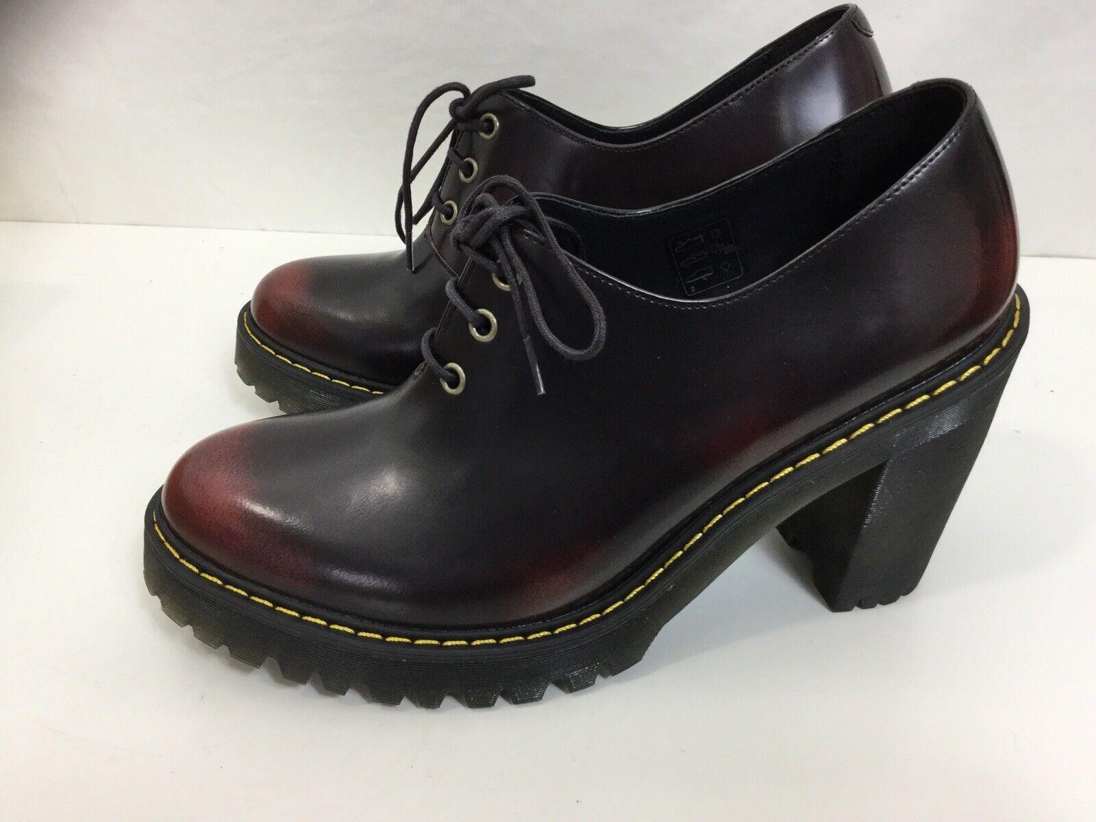 Dock Martins damen's Cherry rot Ankle Stiefel Größe 9 Uk