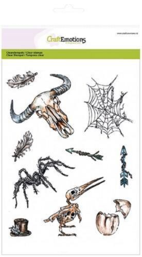 Rustic Art Craft Emotions Clear Stamp Set Weird Science 1