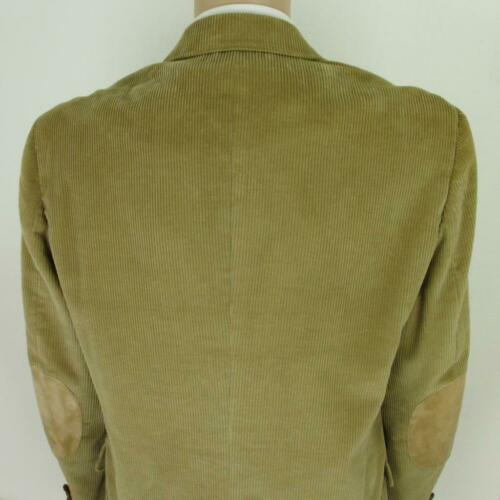 42 L (44) John Peel Vtg Beige Corduroy Leather 2B