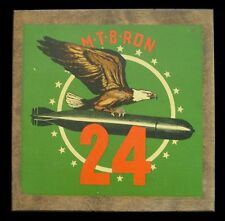 WWII Decal-on-Wood Plaque for US Navy PT Squadron 24 (MTB RON 24)