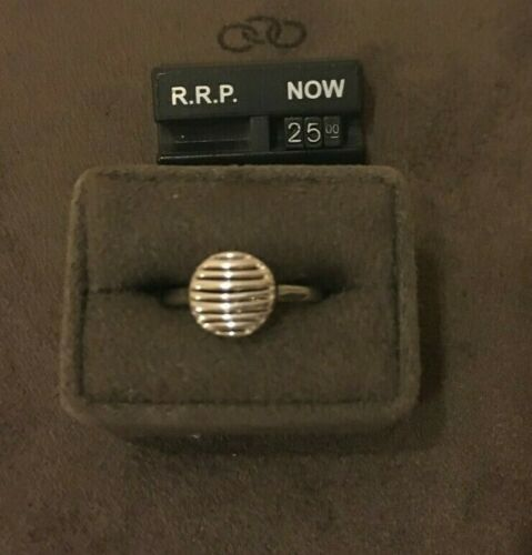 Links of London Sterling Silver Thames Ring RRP £120 size small
