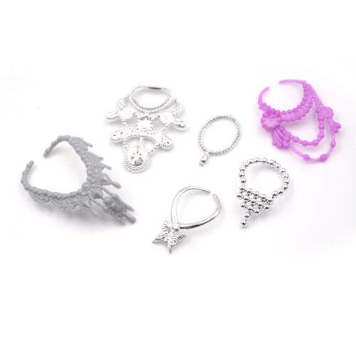 6Pcs//Set Fashion Plastic Chain Necklace For  Doll Party AccessoriesHVNICA