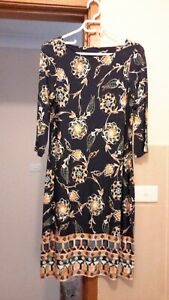 Details about monsoon printed dress size UK 14