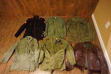 HUGE LOT about 100 Military Uniforms Jackets WWII Korea Vietnam USAF USN USMC