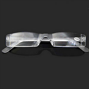 e55b61ed6fb Image is loading Women-Men-Fashion-Rimless-Reading-Glasses-From-1-