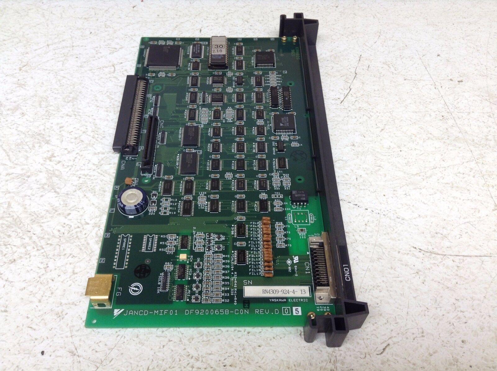 Yaskawa JANCD-MIF01 PCB Control Board Rev D JANCDMIF01 (TB)
