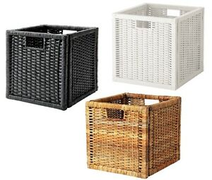 ikea bran s rattan korb box aufbewahrungsbox kasten f r. Black Bedroom Furniture Sets. Home Design Ideas