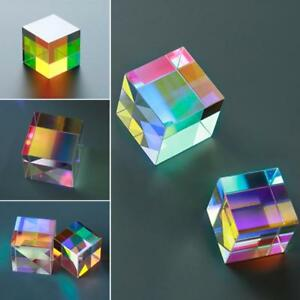 X-Cube-6-Side-Light-Cube-Stained-Glass-Prism-Physics-Experiment-Optical-Lens-UK