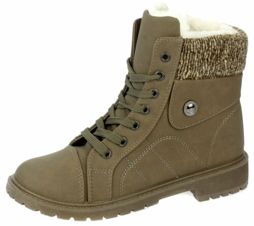 Damen Stiefeletten Boots Booty Gefütterte Winterschuhe Schuhe Warmfutter 3008
