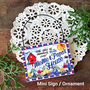 Wood-Ornament-MEME-PAPA-Gift-Everyday-Mini-Sign-Present-Decoration-USA-New