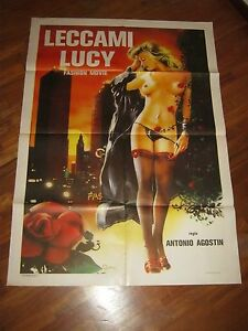 Image Is Loading Poster Lick Me Lucy Antonio Agostin Erotic Fashion