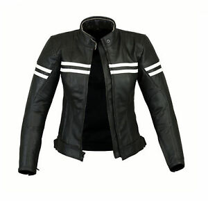 Ladies-Motorcycle-Waterproof-Leather-Jacket-Women-Motorbike-Armours-Jacket-Black