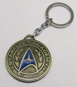 STAR TREK Starfleet Acadamy Bronze Pendant Metal KEY CHAIN Ring Keychain NEW