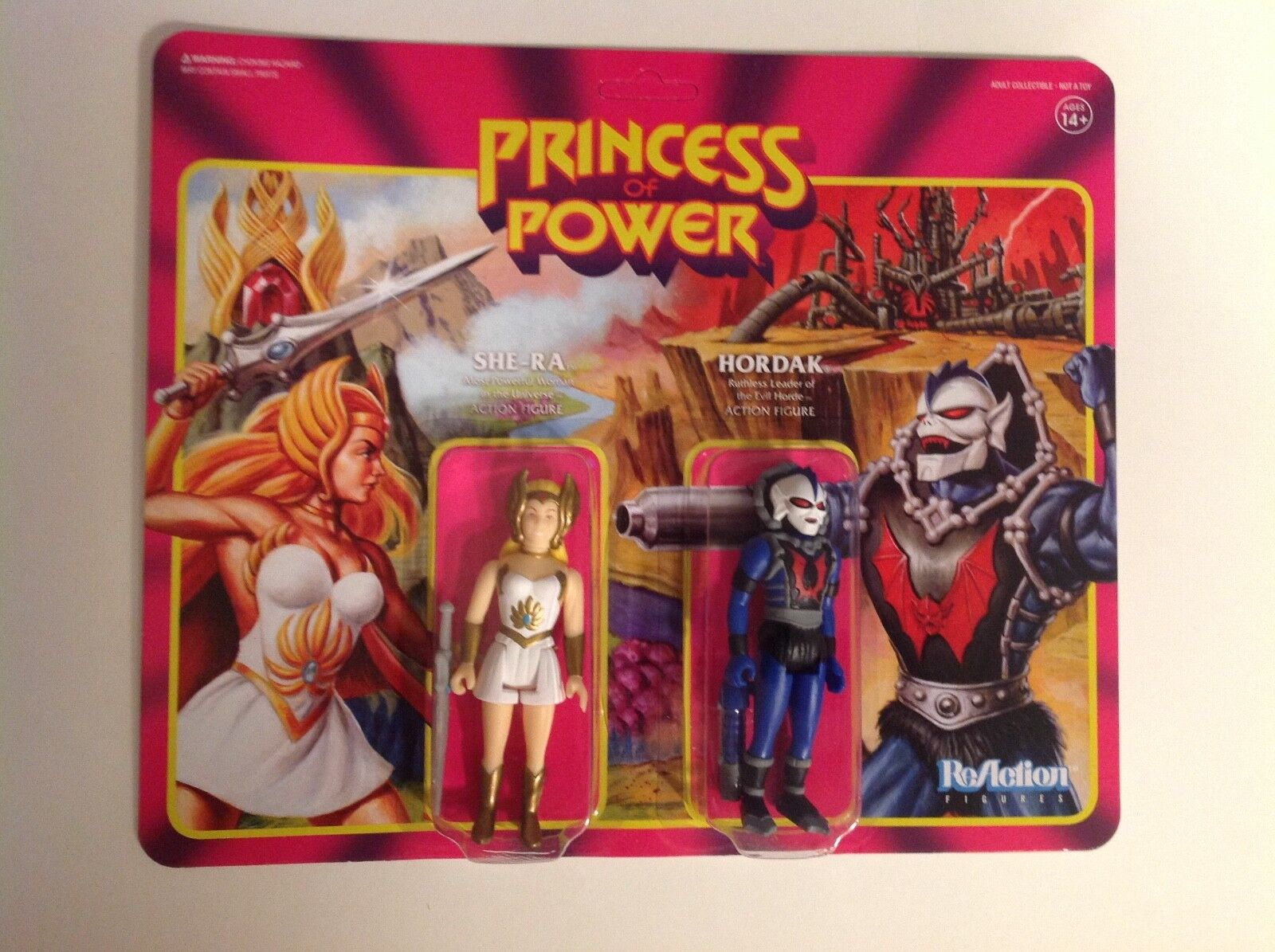 SDCC 2018 She-Ra & Hordak exclusive figure set sealed MOC MOTU Super7 Reaction