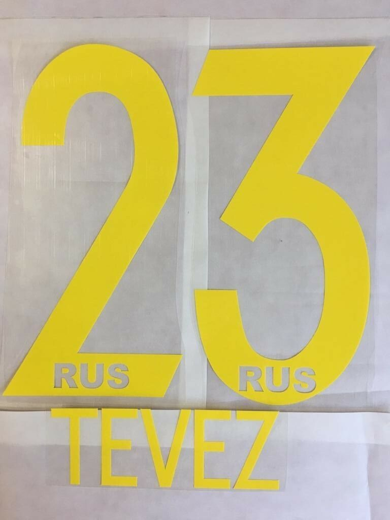TEVEZ    23 BOCA JUNIORS 2018 2019  HOME NAME AND NUMBER SET