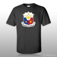 Filipino Coat Of Arms T-shirt Tee Shirt Free Sticker Philippines Flag Phl Ph