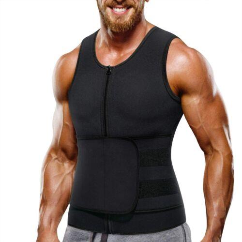 Details about  /Men Waist Trainer Vest Hot Neoprene Sauna Suit Body Shaper TankTop Workout Shirt
