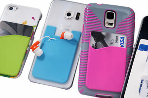 Silicone-Wallet-for-iPhone-Smart-Phone-Wallet-Card-Holder-Universal-Case-Pouch