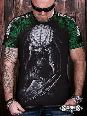 Predator Inspired Arnold Schwarzenegger Horror Scary Alien Film Movie T Shirt