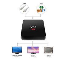 4K V88 Amlogic RK3229 Quad-core 1G+8G Android5.1 Smart TV Box Wifi Media Player