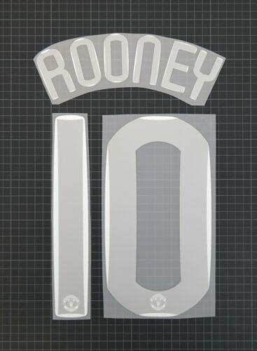ROONEY #10 2007-2008 Player Size Champions League Silver Nameset Plastic