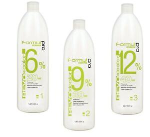 oxydant pour coloration cheveux,décoloration,teinture  20,30,40 v 1000 ml