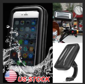 WATERPROOF-CELL-PHONE-HOLDER-Motorcycle-Bike-Handlebar-GPS-Bicycle-Mount-Case