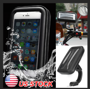 sale retailer 0b3d2 b086f Details about WATERPROOF CELL PHONE HOLDER Motorcycle Bike Handlebar GPS  Bicycle Mount Case